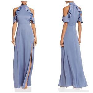 High neck cold shoulder gown NWOT